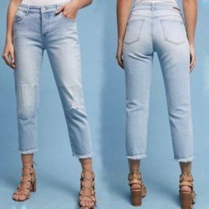 Anthropologie  Mid-Rise Boyfriend Cropped Jeans 30